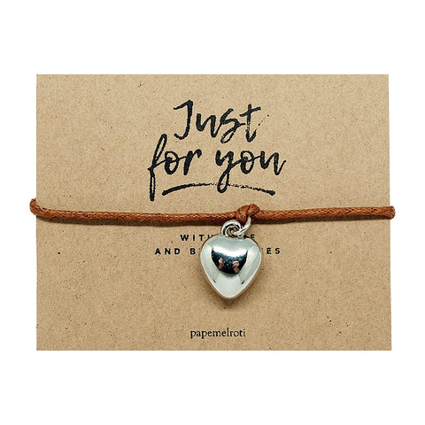 Heart Cord Bracelet Jewelry Gift Card