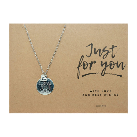I Love You with Heart Necklace Jewelry Gift Card