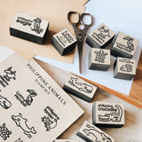 Philippine Animals Rubber Stamp Set