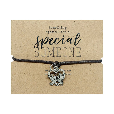 Love Birds Cord Bracelet Jewelry Gift Card