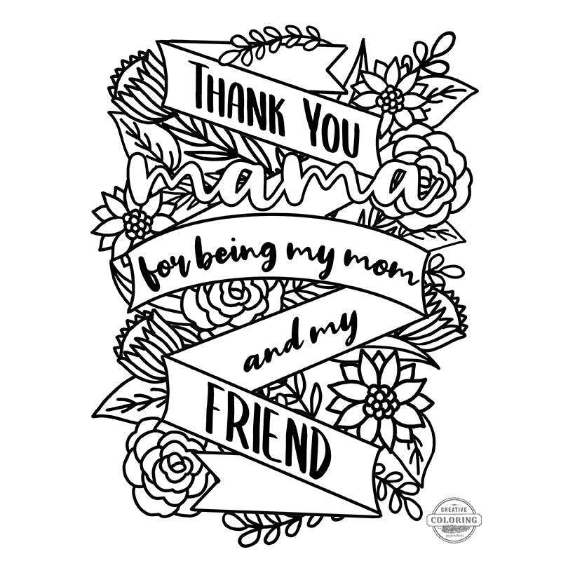 Mother's Day Creative Coloring Poster Freebie