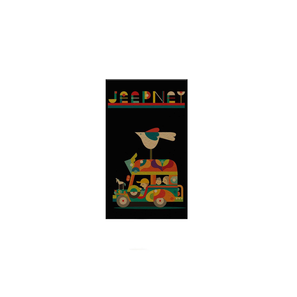 Philippine Jeepney: Geometric Magnetic Bookmark