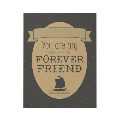 You Are My Forever Friend Greeting Card: Blue