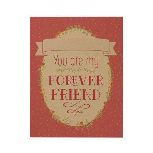 You Are My Forever Friend Greeting Card: Pink