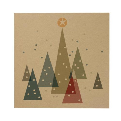 Christmas Tree Square Greeting Card