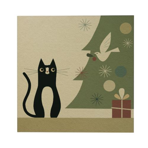 Oreo with Christmas Tree Square Greeting Card