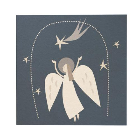 Christmas Angel Square Greeting Card