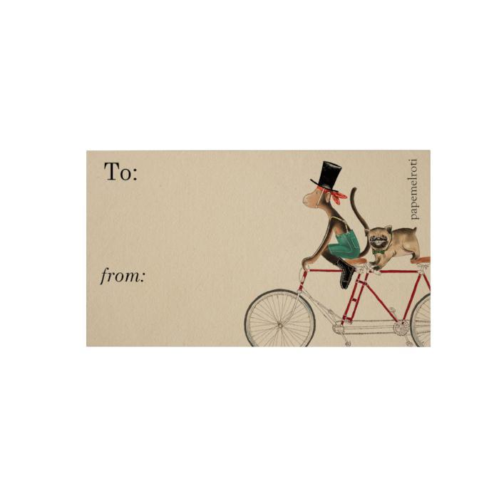 Bike: Monkey and Pug Gift Cards