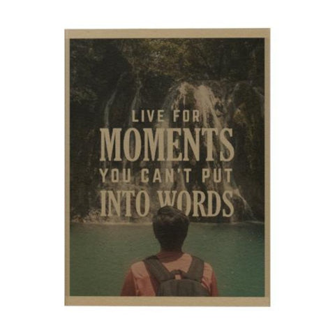 Live for Moments Notebook