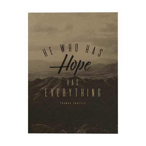 He Who Has Hope Notebook