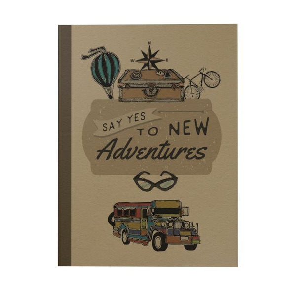 Say Yes To New Adventures Notebook: Jeepney