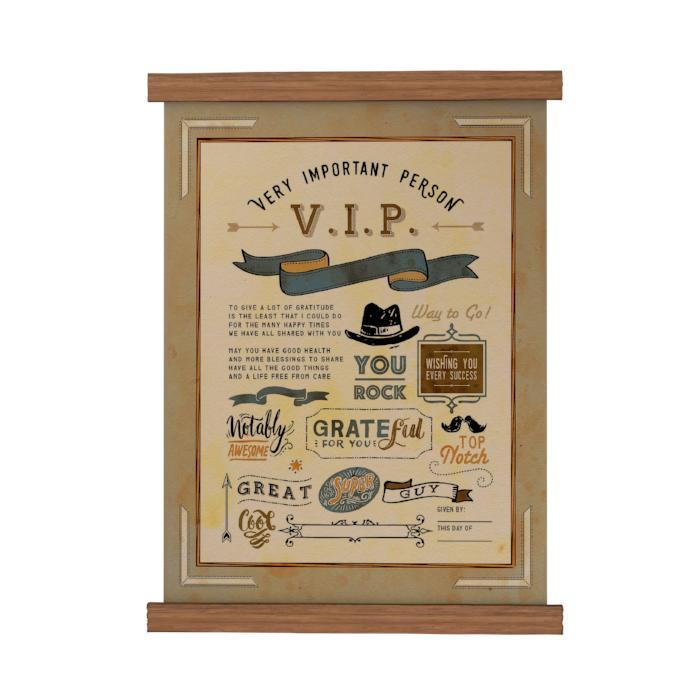 VIP You Rock Scroll Poster