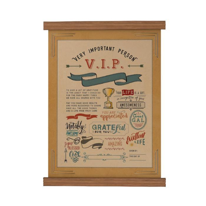 VIP You Are Appreciated Scroll Poster