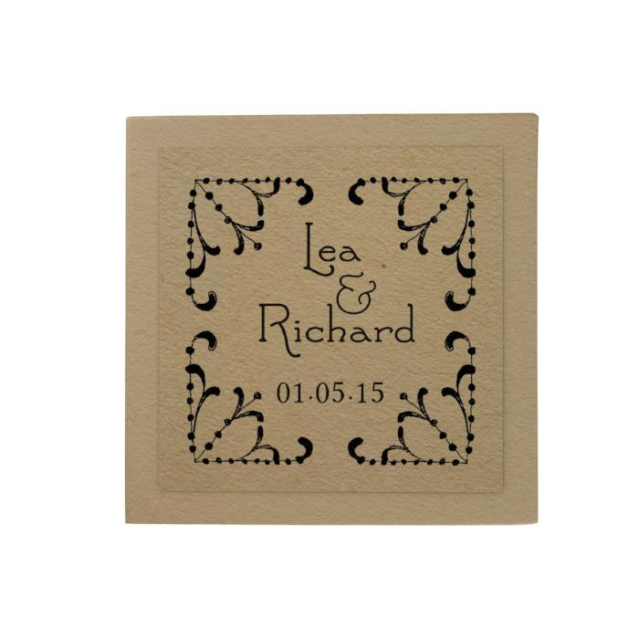 Lace Border Personalized Desk Pad