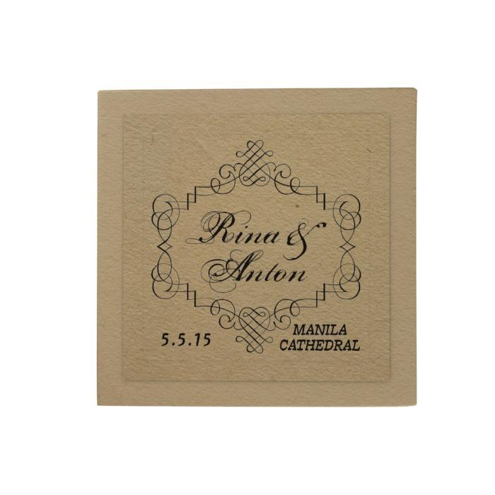 Calligraphy Border Personalized Desk Pad