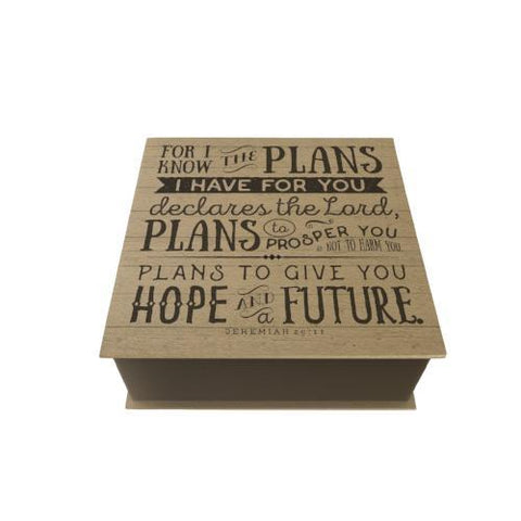 For I Know the Plans Desk Pad