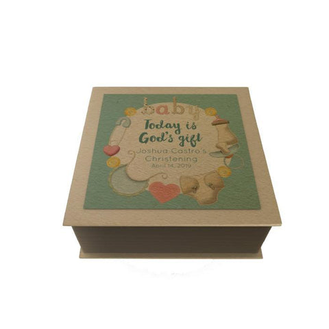 Baby Personalized Desk Pad: Blue