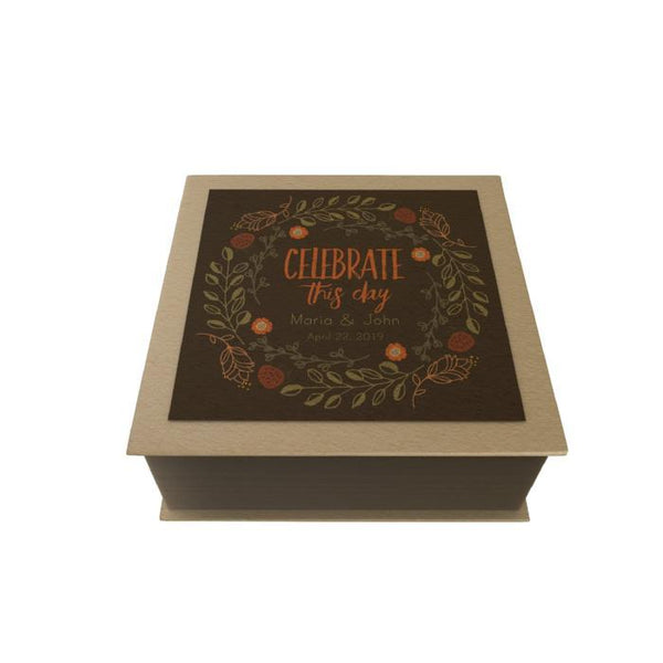 Celebrate This Day Personalized Desk Pad: Wreath