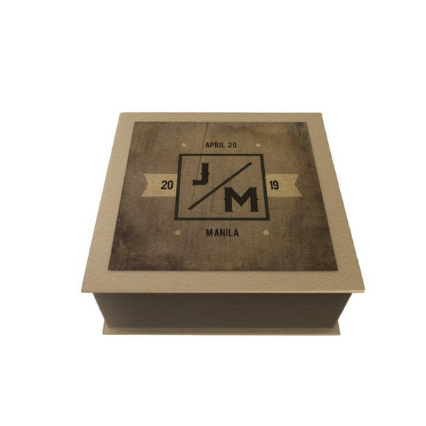 Initials Personalized Desk Pad: Brown