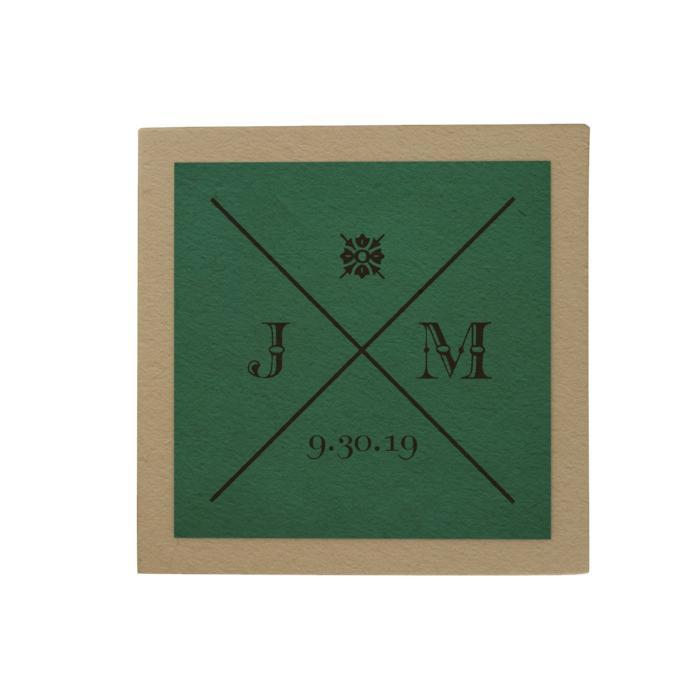 Initials Personalized Desk Pad: Green