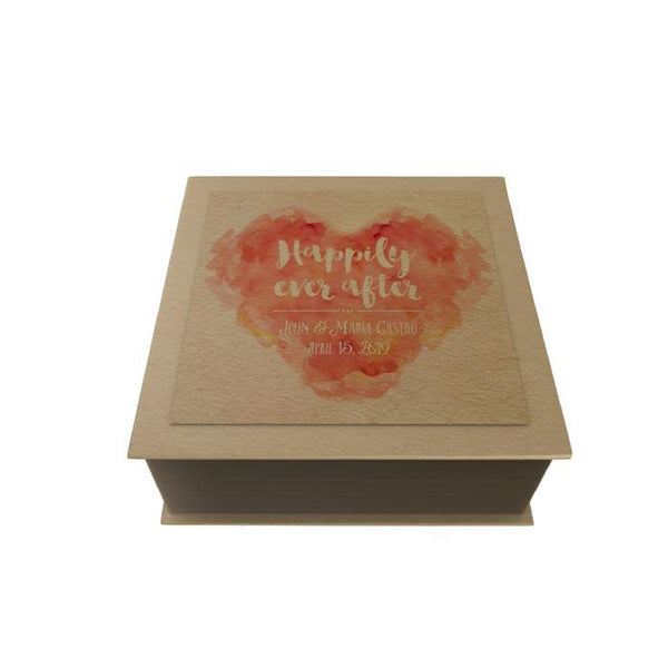 Watercolor Heart Personalized Desk Pad