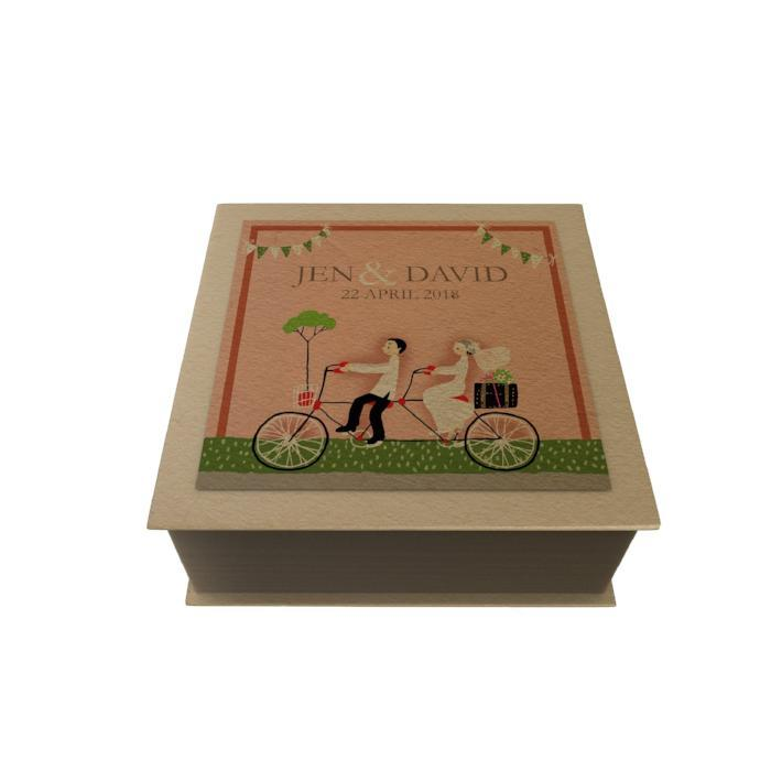 Wedding Bicycle Personalized Desk Pad