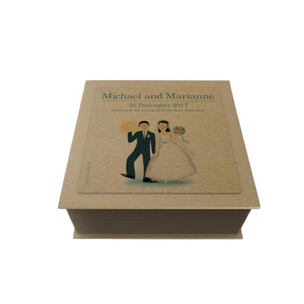 Wedding Couple Personalized Desk Pad