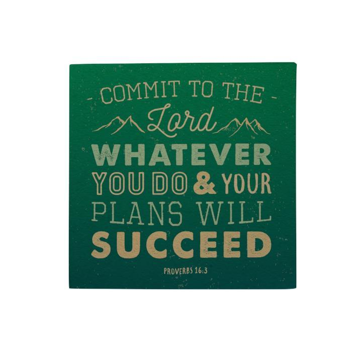 Commit to the Lord Desk Pad