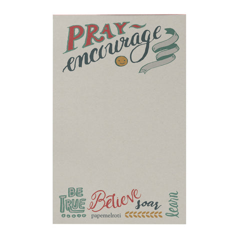 Pray Encourage Notepad