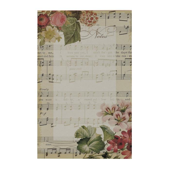 Vintage Notes Notepad