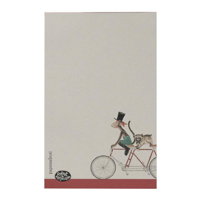 Bike: Monkey and Pug Notepad