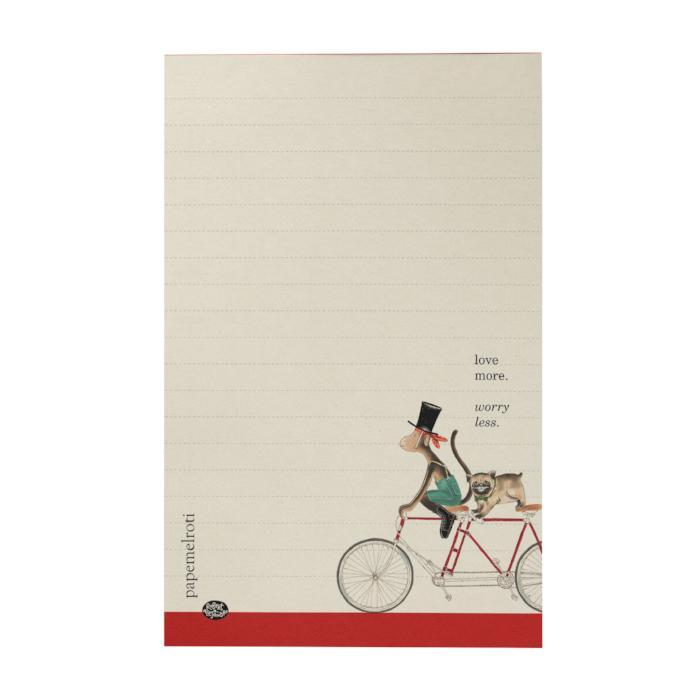 Bike: Monkey and Pug Writing Pad