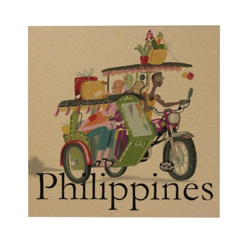 Philippines: Tricycle Postcard