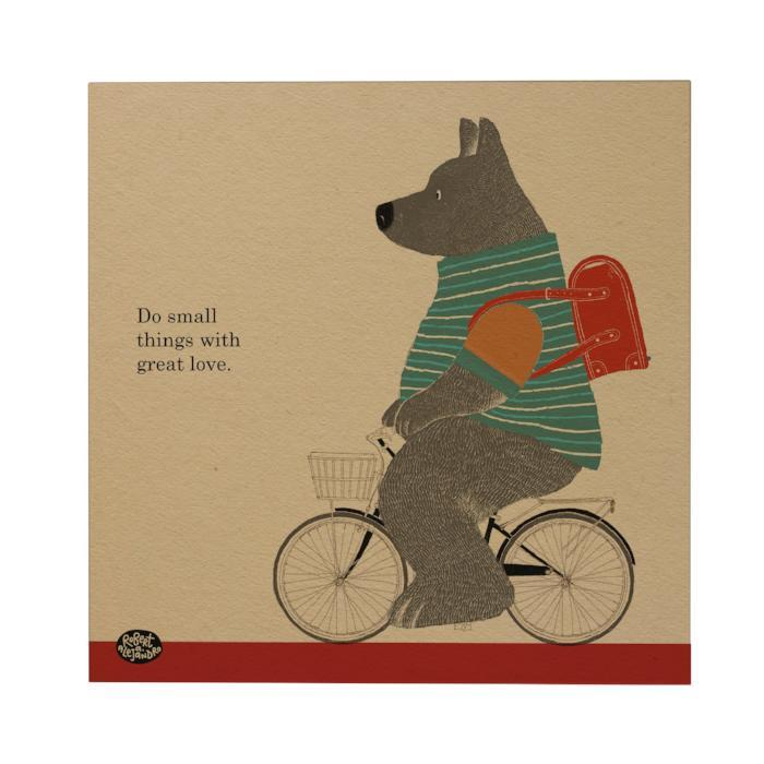 Bike: Bear Postcard