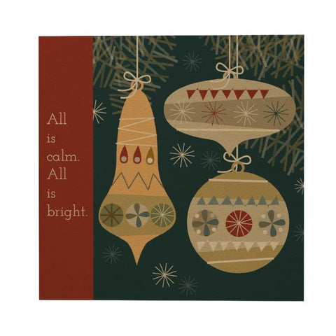 Christmas Ornaments Postcard