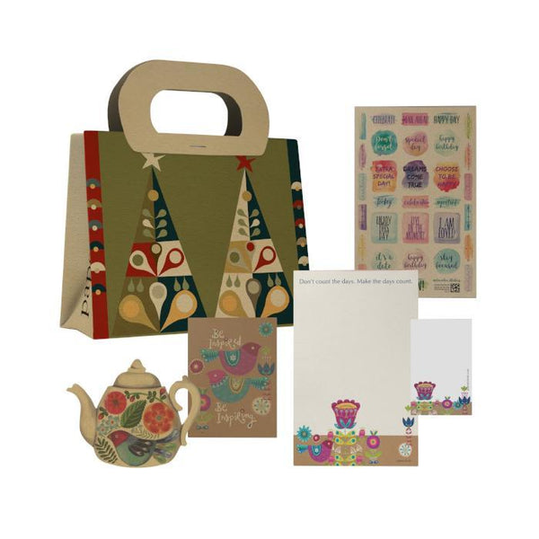 Christmas Trees Gift Bag Set