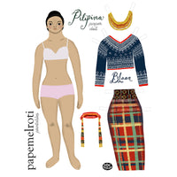 Pilipina Colored Paper Doll Set