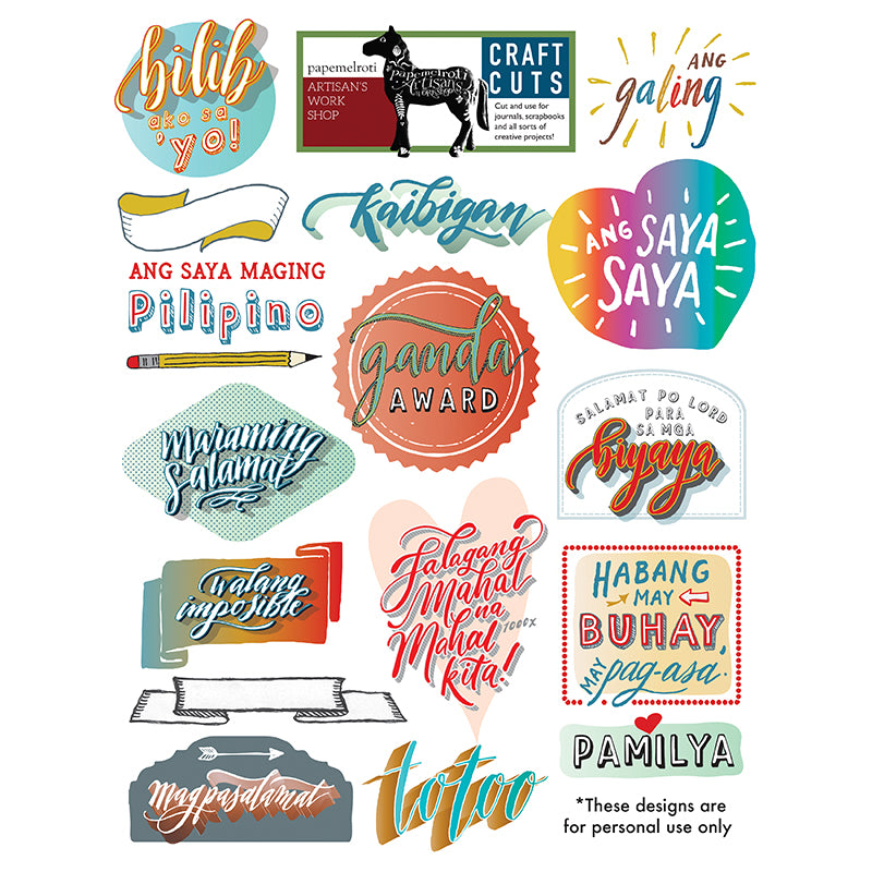 Pinoy Printable Craft Cuts Freebie