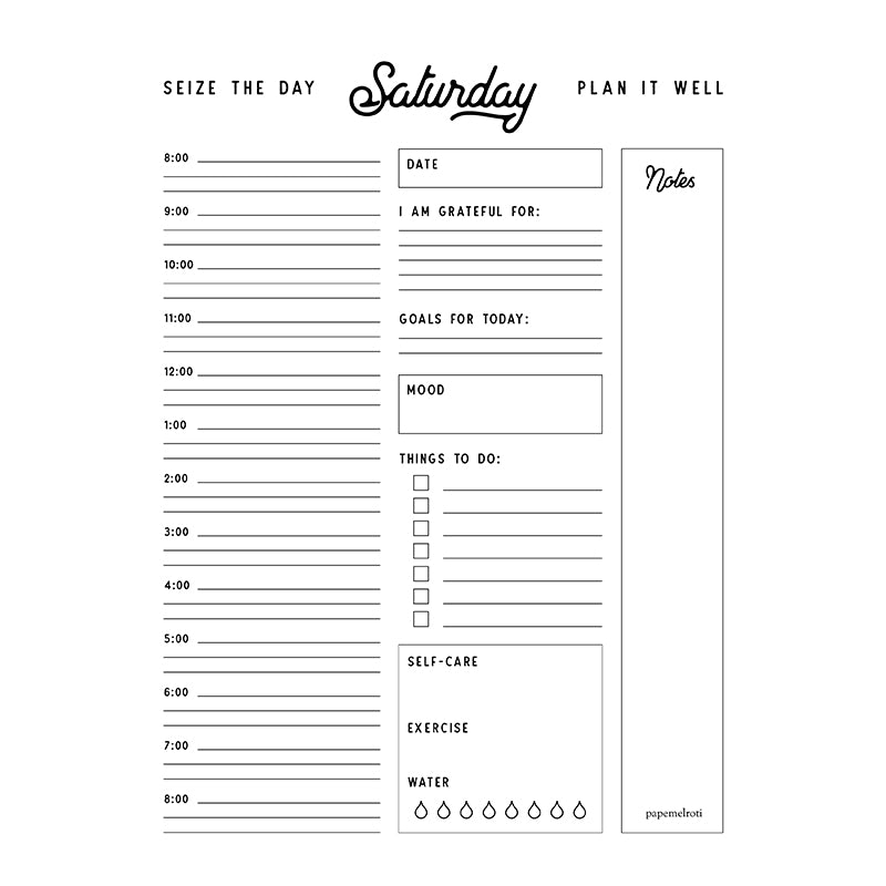 Plan It: Printable Daily Planner