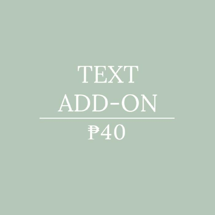 Text Add-on