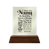 World's No. 1 Ninong Personalized Glass Plaque