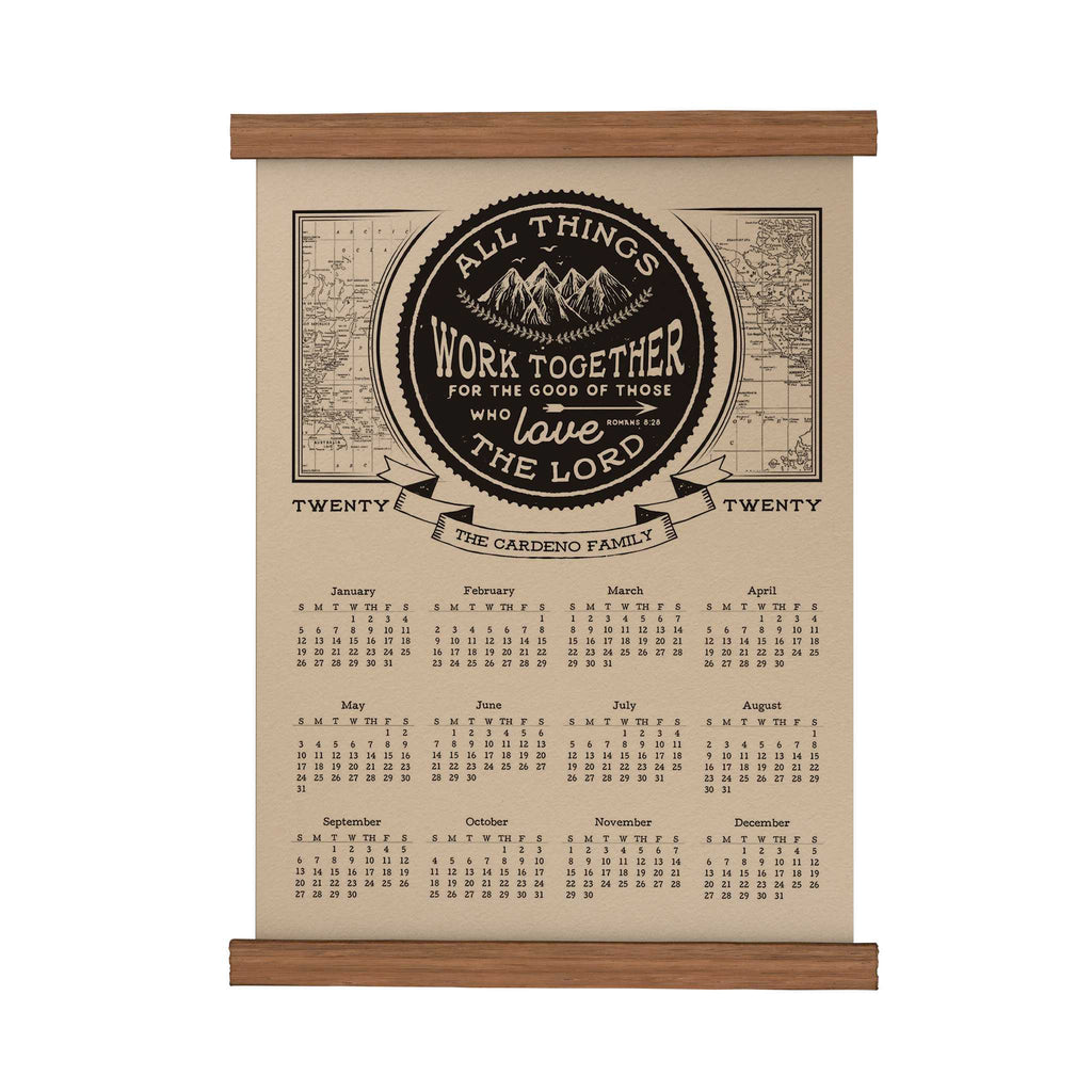 All Things Work Together Personalized Scroll Calendar