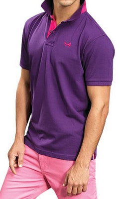 Men Contrast Polo T-shirt