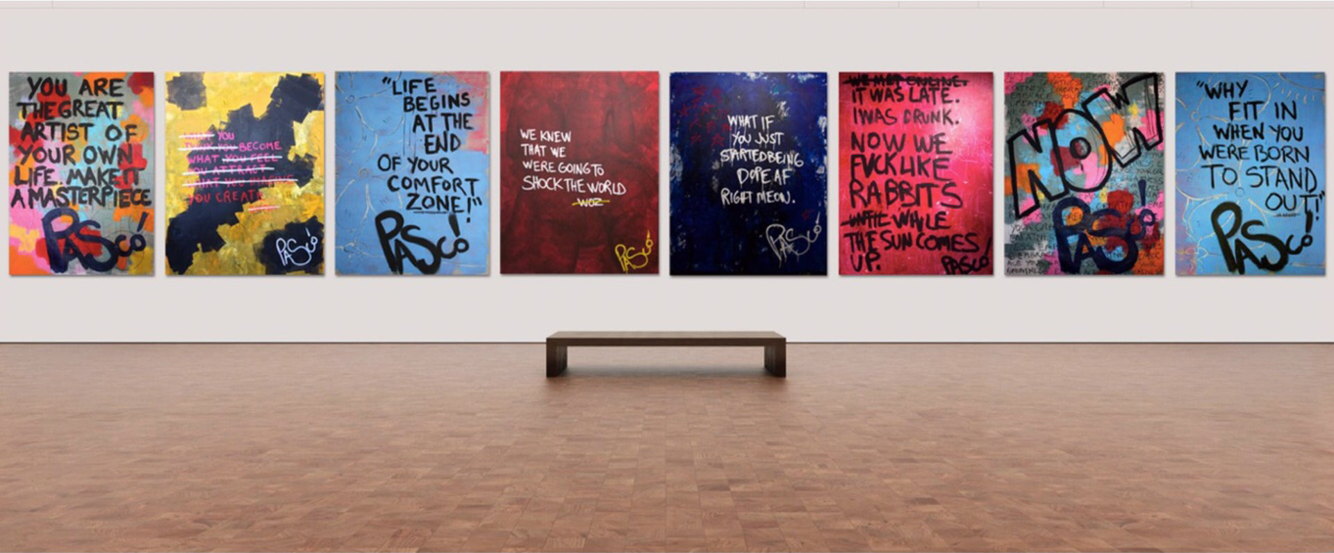 List of Works by Emerging Contemporary Artist, Pascó