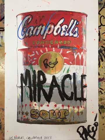 Hand Embellished Miracle Soup Can Print (LIMITED EDITION)