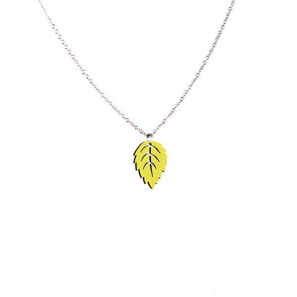 Birch Leaf necklace