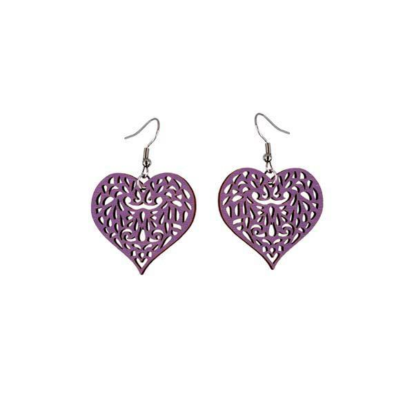 Decorated Heart earrings