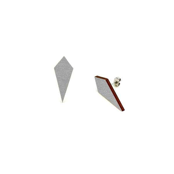 Wooden Tip stud earrings