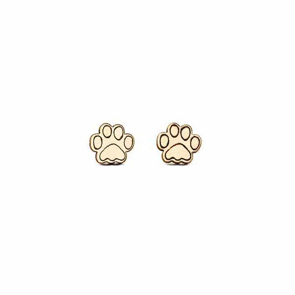 Delicate Paws stud earrings
