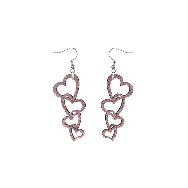 Foursome of Hearts earrings
